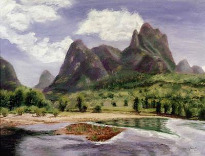 Pastel - Along The Li River by Nancy Yang