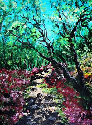 Painting - Along The Path by Judy Via-Wolff