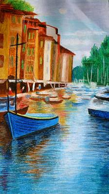 Pastel - Along The Reflections 2 by Tanya Anurag