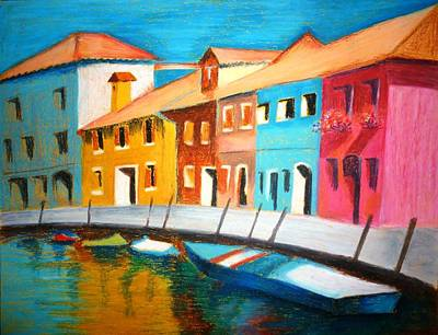 Pastel - Along The Reflections 3 by Tanya Anurag