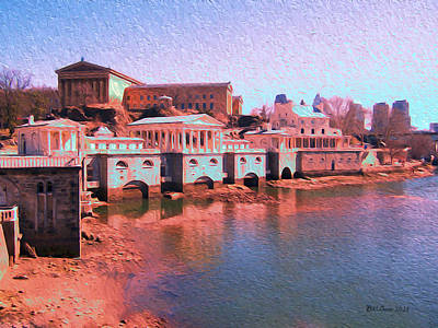 Along The Schuylkill At The Philadelphia Waterworks Art Print by Bill Cannon