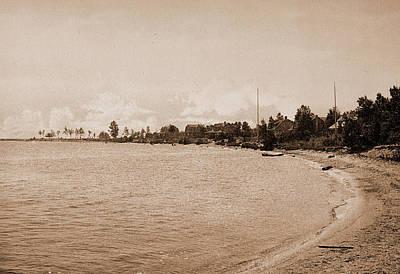 Harbor Drawing - Along The Shore At Harbor Beach, Michigan by Litz Collection
