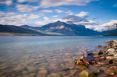 Photograph - Along The Shoreline Of Lake Mcdonald by Greg Nyquist