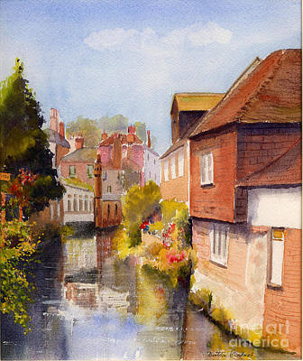 Along The Stour Canterbury Art Print