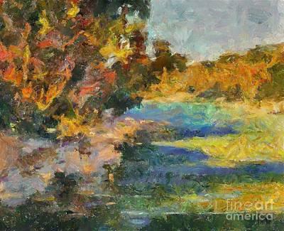 Along The Stream Art Print by Dragica  Micki Fortuna