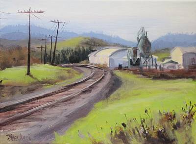 Painting - Along The Tracks by Karen Ilari