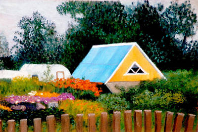 Along The Volga  Winner Art Quenchgallery.com Summer International Juried  Art Competition Art Print by Brent  Harris