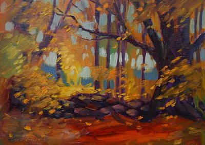 Along Windsor Road  Original by Len Stomski