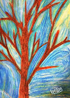 Painting - Aloushi's Abstract by Renee Michelle Wenker
