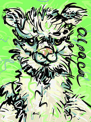 Alpaca Art Print by Brett LaGue