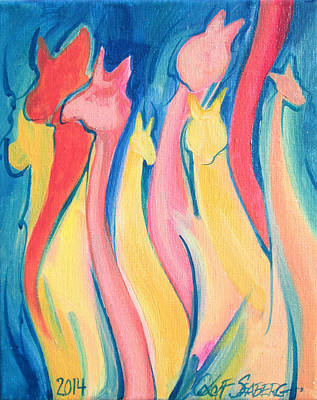 Painting - Alpaca Flames by Jeff Seaberg