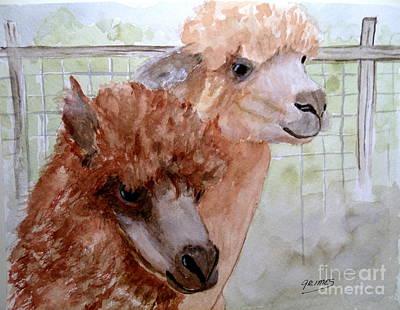 Painting - Alpaca Pride by Carol Grimes