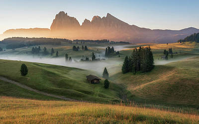 Cottage Wall Art - Photograph - Alpe Di Siusi by Ales Krivec