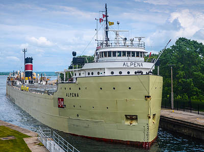 Sault Ste Marie Photograph - Alpena Upbound At The Soo by Gales Of November