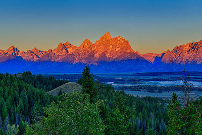 Photograph - Alpenglow Across The Valley by Greg Norrell