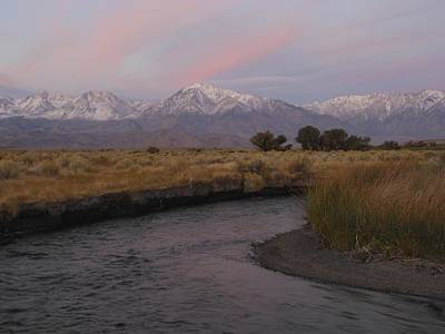 Photograph - Alpenglow On Owens River by Don Kreuter