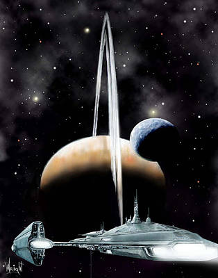 Spaceman Digital Art - Alpha Centauri 3 by Bill Wright