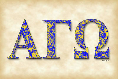 Alpha Gamma Omega - Parchment Art Print by Stephen Younts