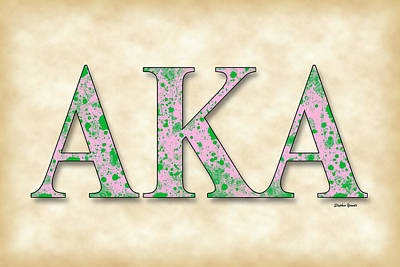 Washington D.c Digital Art - Alpha Kappa Alpha - Parchment by Stephen Younts