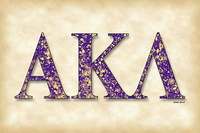 Alpha Kappa Lambda - Parchment Art Print