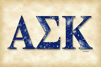 Alpha Sigma Kappa - Parchment Print by Stephen Younts