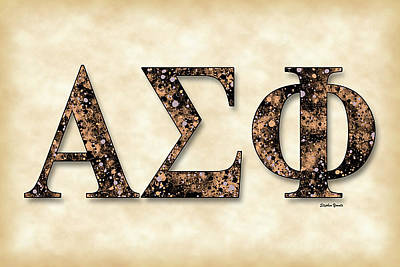 Sig Digital Art - Alpha Sigma Phi - Parchment by Stephen Younts