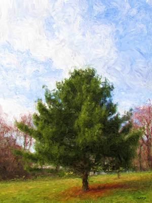 Art Print featuring the digital art Alpha Spring Pine by Spyder Webb