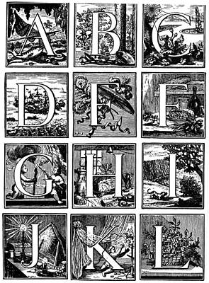 Painting - Alphabet, 1760 by Granger