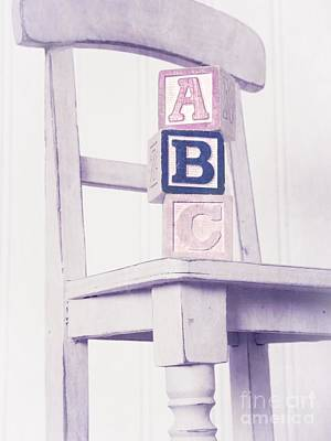Alphabet Blocks Chair Art Print