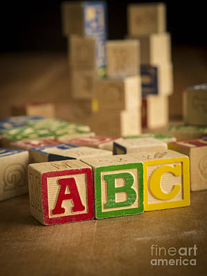 Photograph - Alphabet Blocks by Edward Fielding
