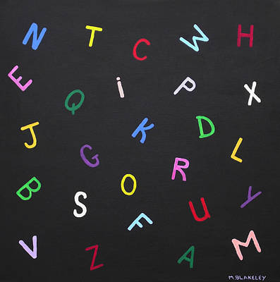 Painting - Alphabet In Color by Martin Blakeley