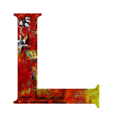 Painting - Alphabet L Letter by Patricia Awapara
