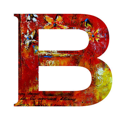 Painting - Alphabet Letter B by Patricia Awapara