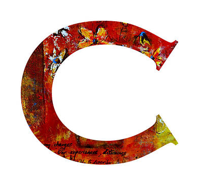 Painting - Alphabet Letter C by Patricia Awapara