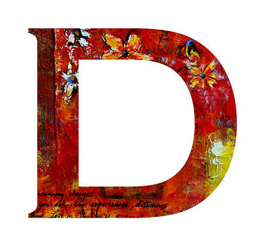 Painting - Alphabet Letter D by Patricia Awapara