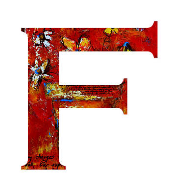 Painting - Alphabet Letter F by Patricia Awapara