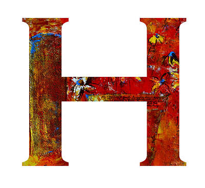 Painting - Alphabet Letter H by Patricia Awapara