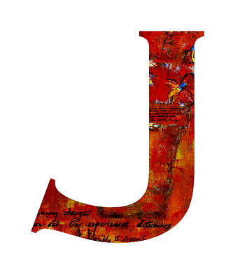 Painting - Alphabet Letter J by Patricia Awapara