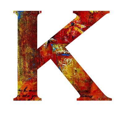 Painting - Alphabet Letter K by Patricia Awapara