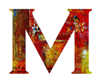 Painting - Alphabet Letter M by Patricia Awapara