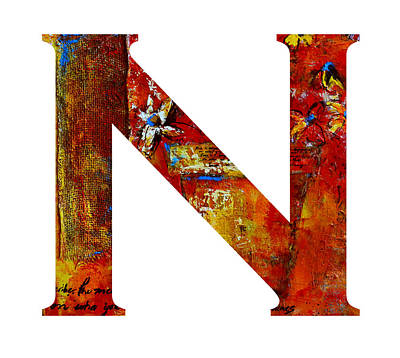 Painting - Alphabet Letter N by Patricia Awapara