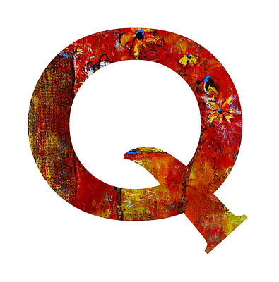 Painting - Alphabet Letter Q by Patricia Awapara