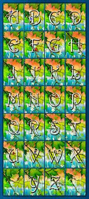 Alphabetical Digital Art - Alphabet Nature - Maple by Peter Awax