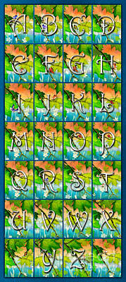 Maple Leaf Art Mixed Media - Alphabet Nature - Maple by Bedros Awak