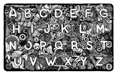 Drawing - Alphabet Soup by Matthew Ridgway