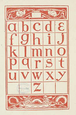 Alphabet Table For 'the Golden Primer' Art Print