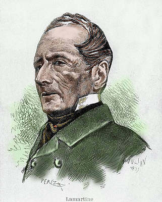 Alphonse Photograph - Alphonse De Lamartine (1790-1869 by Prisma Archivo