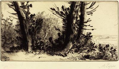 Alphonse Legros, Across Country A Travers Champ Art Print by Quint Lox