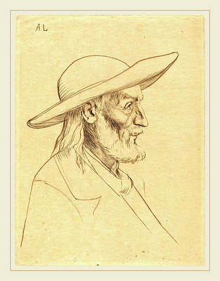 Alphonse Legros, Breton Peasant Paysan Breton Art Print by Litz Collection