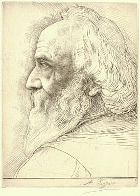 Self-portrait Drawing - Alphonse Legros French, 1837 - 1911. Self-portrait by Litz Collection